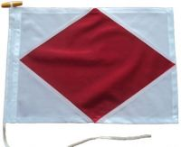 30x24in 76x61cm Foxtrot F signal flag British Navy Size
