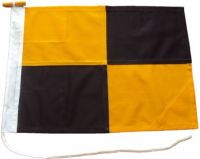 24x18in 60x45cm Lima L signal flag US Navy Size 2