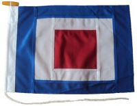 36x30in 91x76cm Whiskey W  signal flag French Navy Size