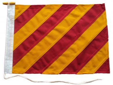21x18in 53x46cm Yankee Y signal flag British Navy Size